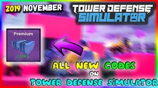 New Codes On Tower Defense Simulator November 2019 Roblox By Iqeeds