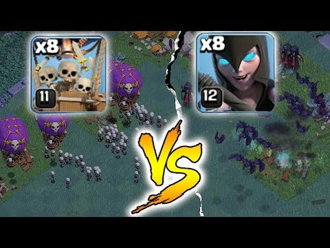 "FLOOD THE SCREEN!!! | DROPSHIP vs. WICH!! | "" Clash of clans """