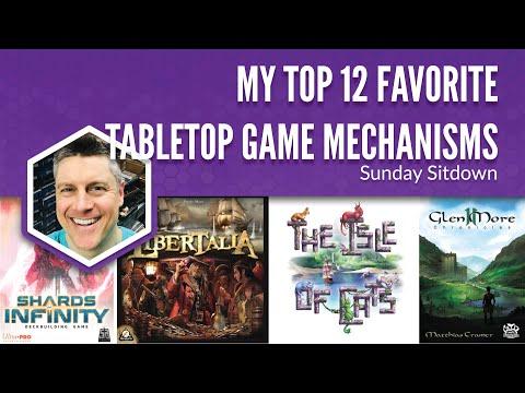 My Top 12 Favorite Tabletop Game Mechanisms