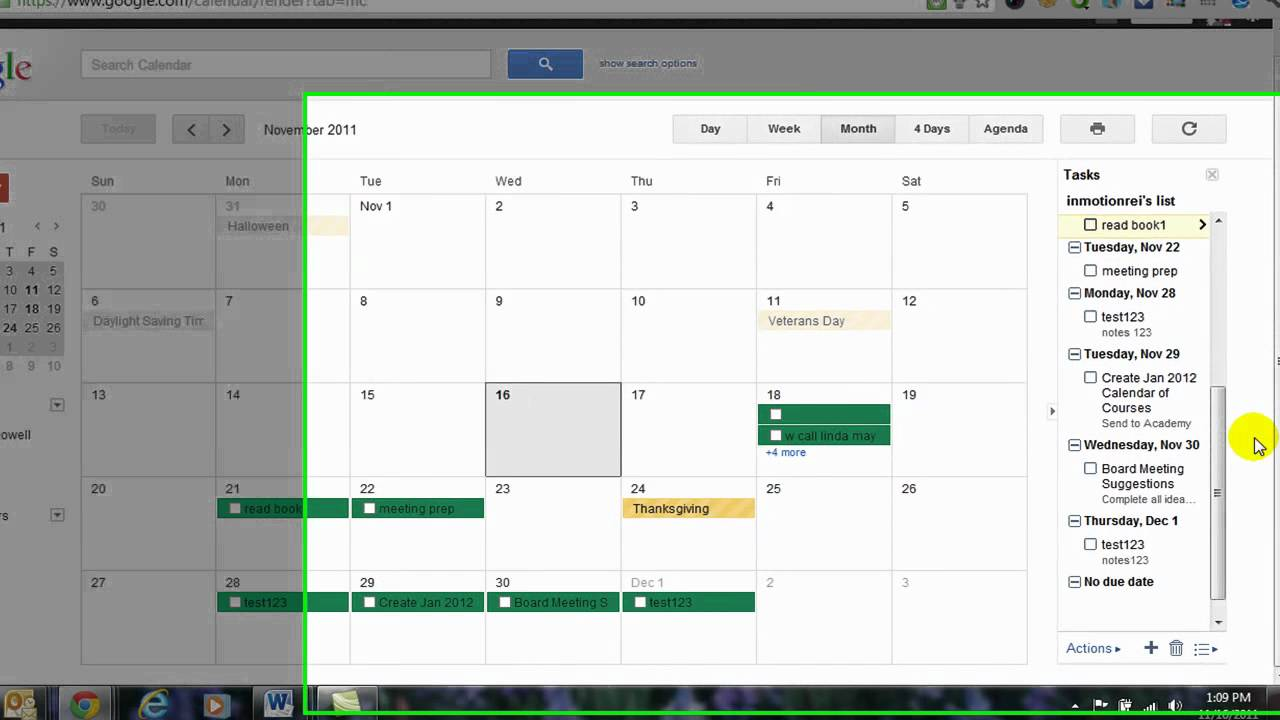 how to create a to do list using google calendar youtube