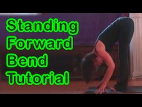 standing forward bend uttanasana yoga tutorial  youtube