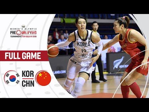 Korea V China - Full Game - FIBA Women's Olympic Pre-Qualifying Tournaments 2019