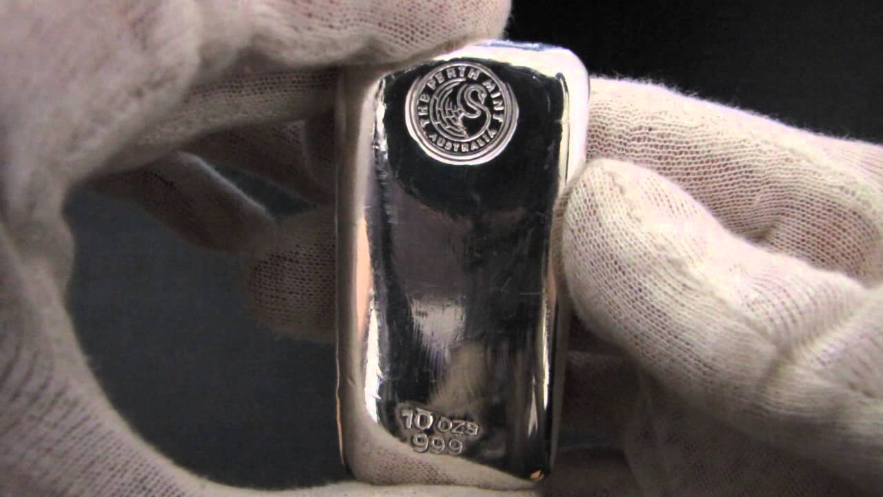 Hd 10 Oz Perth Mint Silver Bullion Bar Youtube