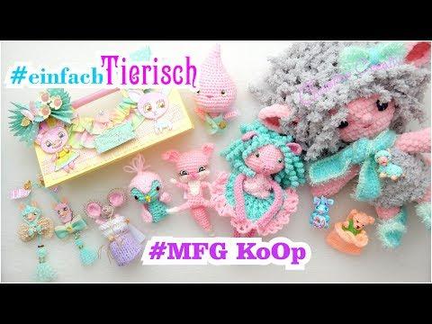 #einfachTierisch 💜 MFG KoOP 🌈Tutorial 💼 GoodieBagShopper  🌸 Bastelupdate Amigurumi Kawaii ShabbyChic