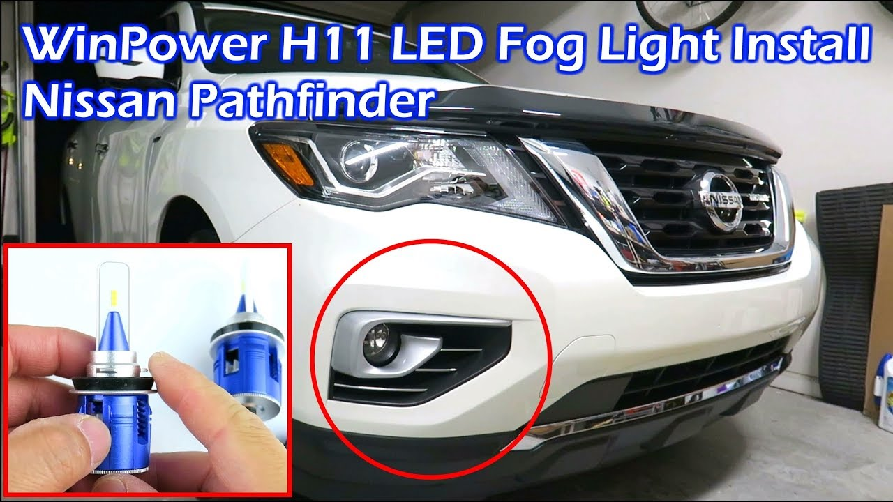 install winpower h11 6000k led fog light nissan pathfinder youtube rh youtube com