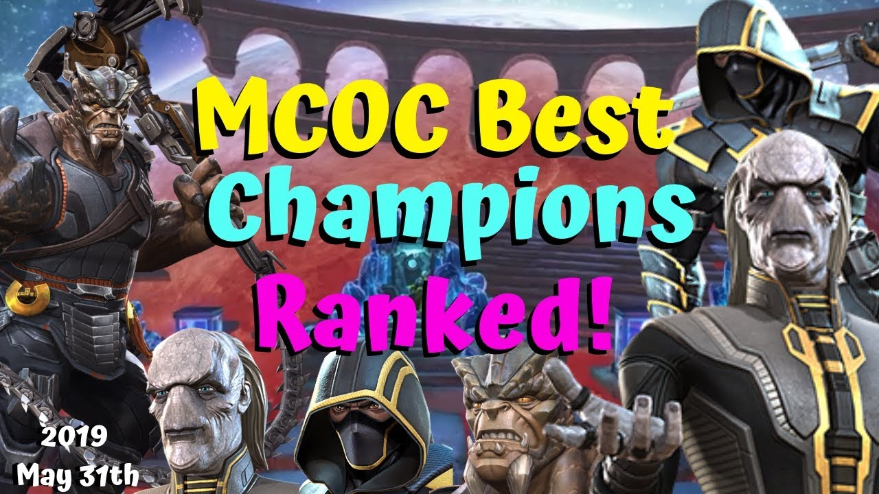 Mcoc Best 5* Champs 2020 MCOC Best Champions Ranked! Cull/Maw/Ronin! Tier List!   Marvel