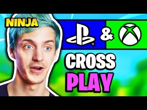 NINJA REACTS TO PS4 & XBOX CROSSPLAY (FORTNITE CROSS-PLATFORM) | Fortnite Daily Funny Moments Ep.208