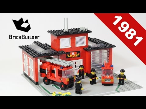 Lego - Back To History - 6382 Fire Station - 1981 - BrickBuilder