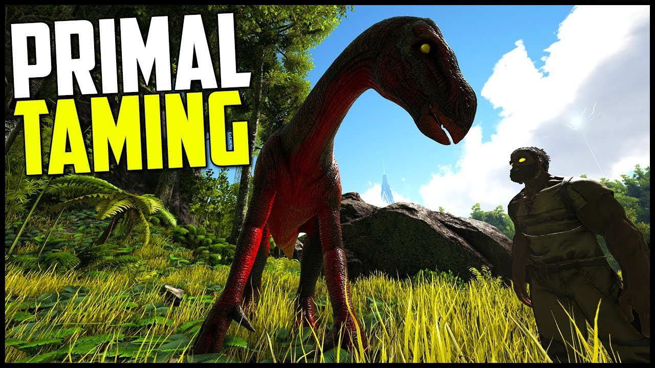 OUR FIRST PRIMAL TAME! - Ark Survival Evolved Modded Ep 3 ( Ark Primal Fear  & More! )