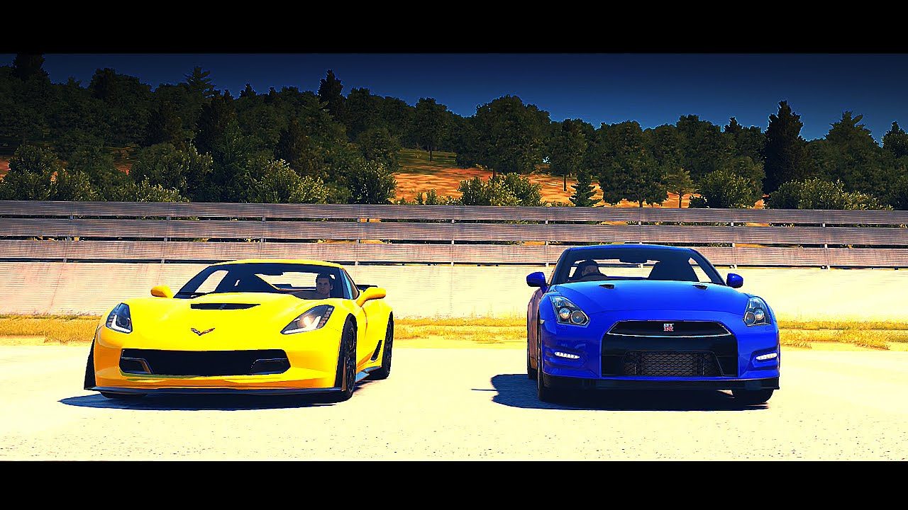 DRAG RACE! 2015 Chevrolet Corvette Z06 vs. 2012 Nissan GT-R Black ...