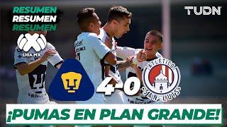 Resumen y Goles | Pumas 4 - 0 San Luis | Liga Mx - J-5 CL-2020 | TUDN