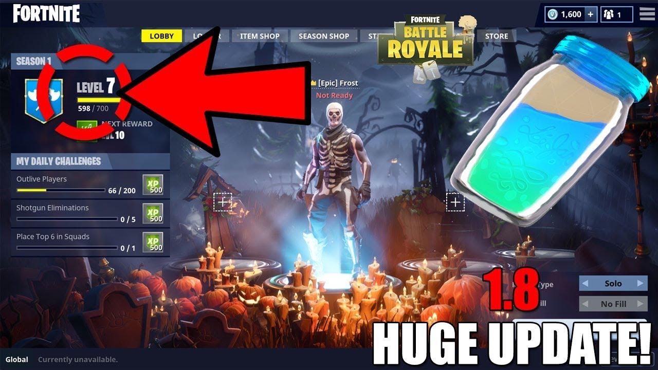 Fortnite Battle Royale Huge Update 1 8 Rank Up