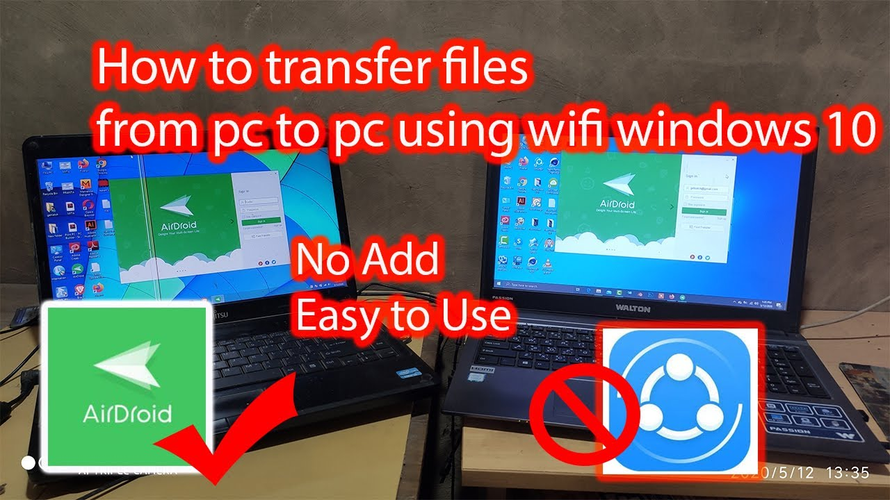 PC to PC file transfer application without using the Internet