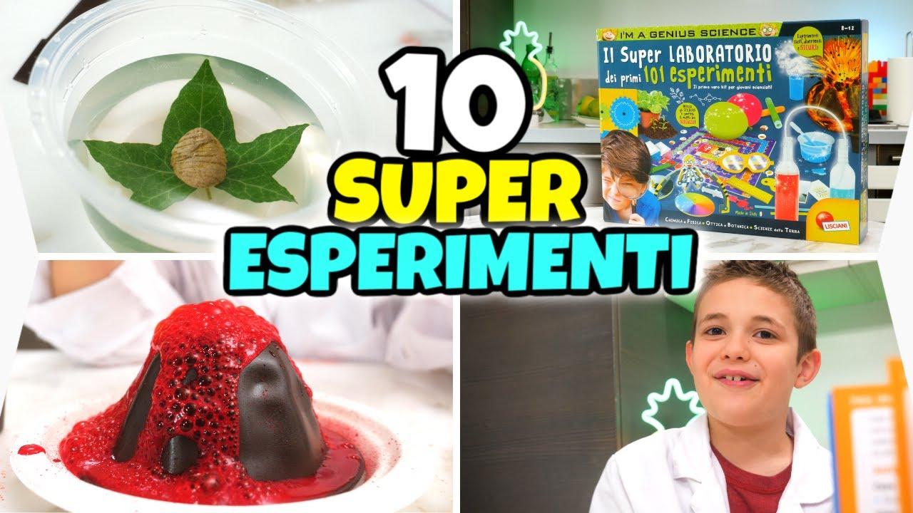 FACCIAMO 10 SUPER ESPERIMENTI 🧪 nel Laboratorio di Nicolò