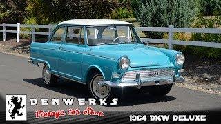 1964 DKW Deluxe Junior F12 Saloon German Auto Union Audi 2 Stroke
