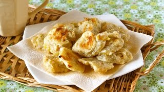 No Egg Microwave Banana Walnut Soft Cookies レンジでバナナクッキー - Ochikeron - Create Eat Happy