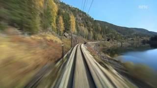 Поезд Svenkerud - Oslo Норвегия. Прекрасное видео и музыка!