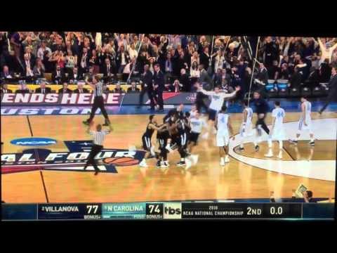 Kris Jenkins Villanova with the Buzzer beater in the National Championship game vs. North Carolina
