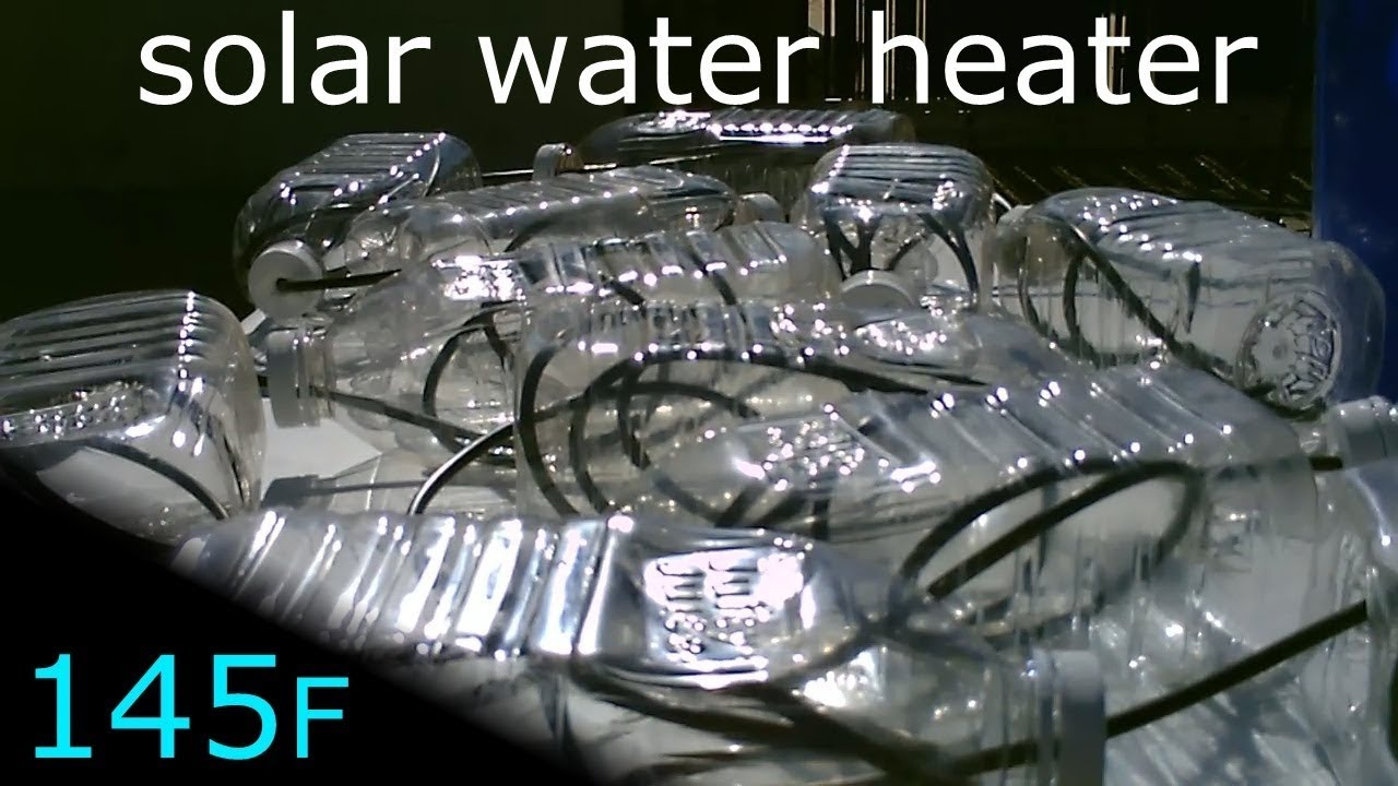Solar Water Heater Multi Bottle Black Poly Pipe Solar Water Heater 145f Easy Diy