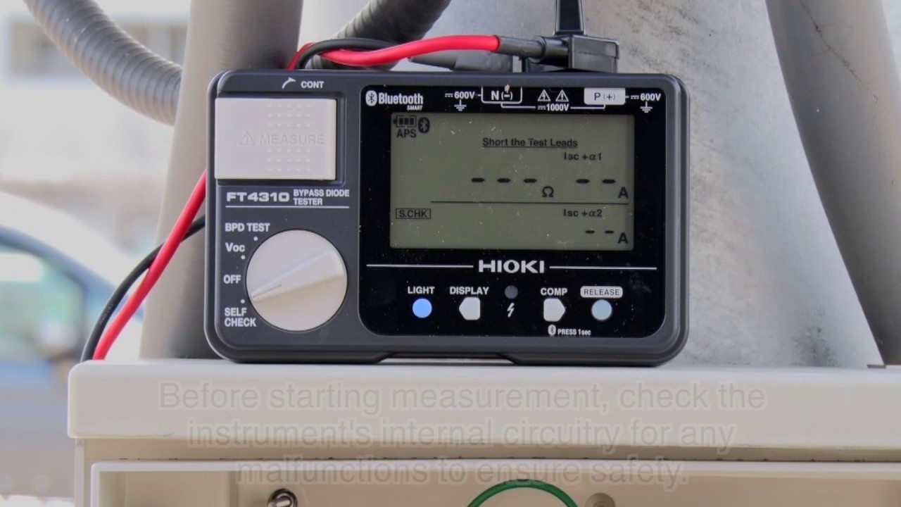 How To Use The Hioki Bypass Diode Tester Ft4310 Youtube Pic
