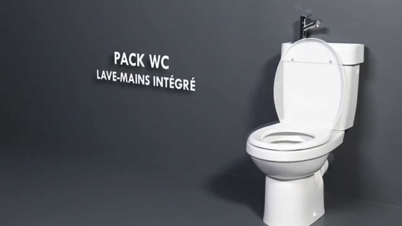 Wc lave mains int gr youtube - Wc avec lave main leroy merlin ...