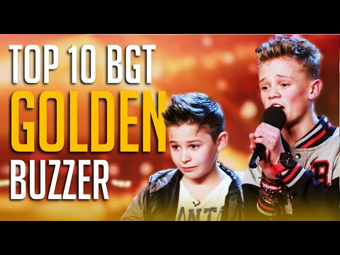 Top 10 BEST Golden Buzzers On Britain's Got Talent EVER!