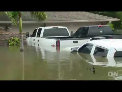 CNN tours Texas neighborhood buried by water