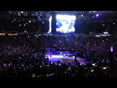 Opening night intros Sacramento Kings.  2013