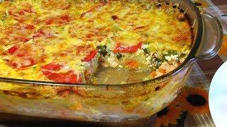 Вкусная Кабачковая Запеканка с Курочкой / Delicious Vegetable marrow Casserole with Chicken