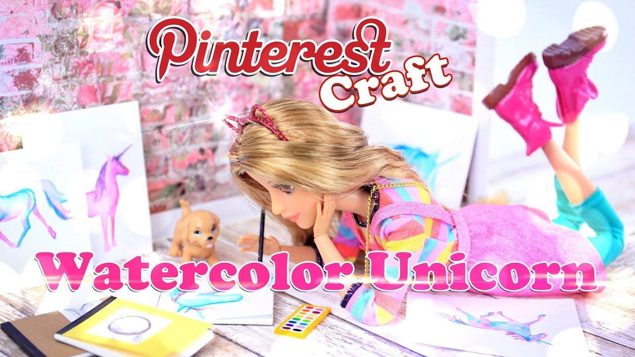 Diy How To Make Pinterest Craft Watercolor Unicorn