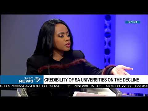 SA's universities credibility on a decline