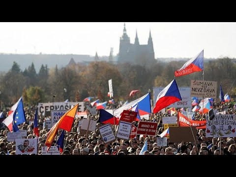 Andrej Babis: At least 200,000 protest in Prague against Czech PM