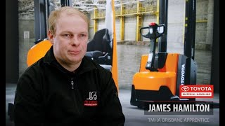 Meet James our 2021 TMHA Forklift Apprentice