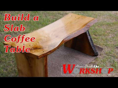 How to build an Oak Slab Coffee Table