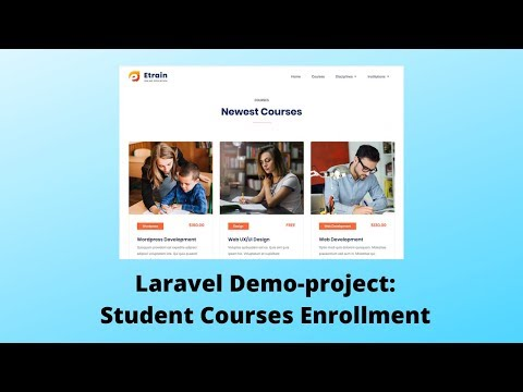 Laravel 6 Demo-Project: Students Enrollment in Courses