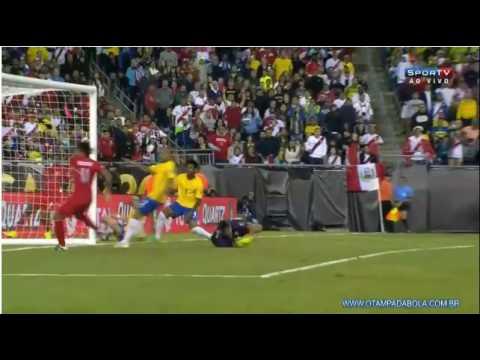 Bochornoso gol con la mano de Ruidiaz - Peru 1 Vs 0 Brasil
