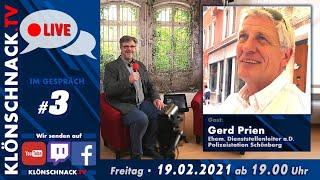 """""""Im Gespräch"""" mit Gerd Prien, ehemaliger Dienststellenleiter a.D. Polizeistation Schönberg"""
