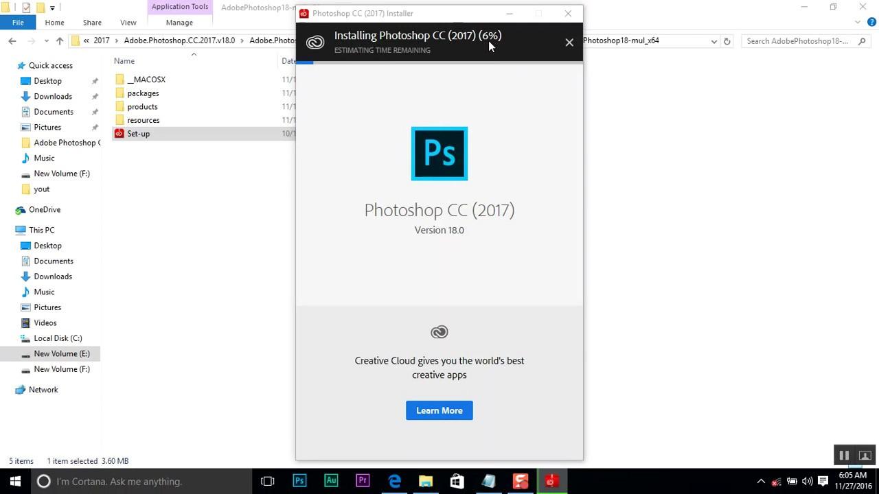 Download Photoshop Cc 2017 Latest Version 18 0 0 Installation Tutorial Youtube