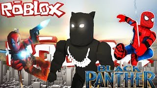 NERO PANTHER POWER E DIGNITY / NERO PANTHER 2 Giocatore Superhero Tycoon / Roblox / Roblox Inglese