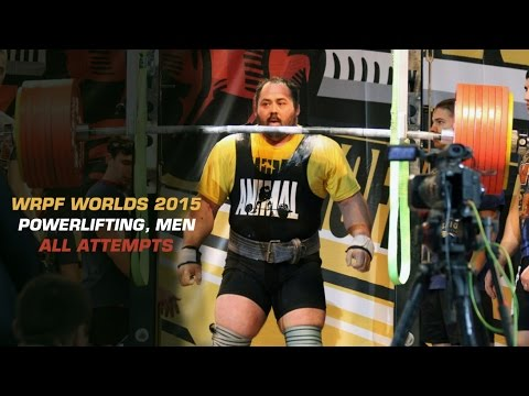WRPF WORLDS 2015, POWERLIFTING (MEN), ALL ATTEMPTS
