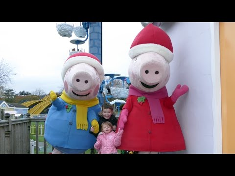 Peppa Pig World at Christmas with Santa ALL RIDES and ATTRACTIONS Paultons Park