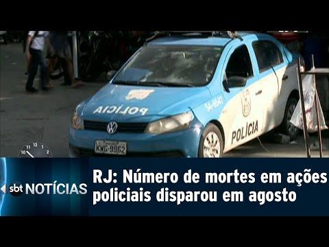 Número de mortos em ações policiais no Rio cresceu 150% em agosto | SBT Notícias (15/09/18)
