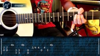 """Cómo tocar """"Heart Shaped Box"""" de Nirvana en Guitarra Acústica (HD) Tutorial - Christianvib"""