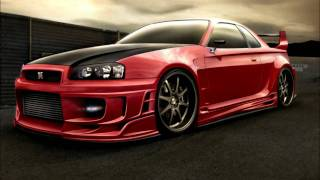 Techno music VS. Nissan Skyline (HD)