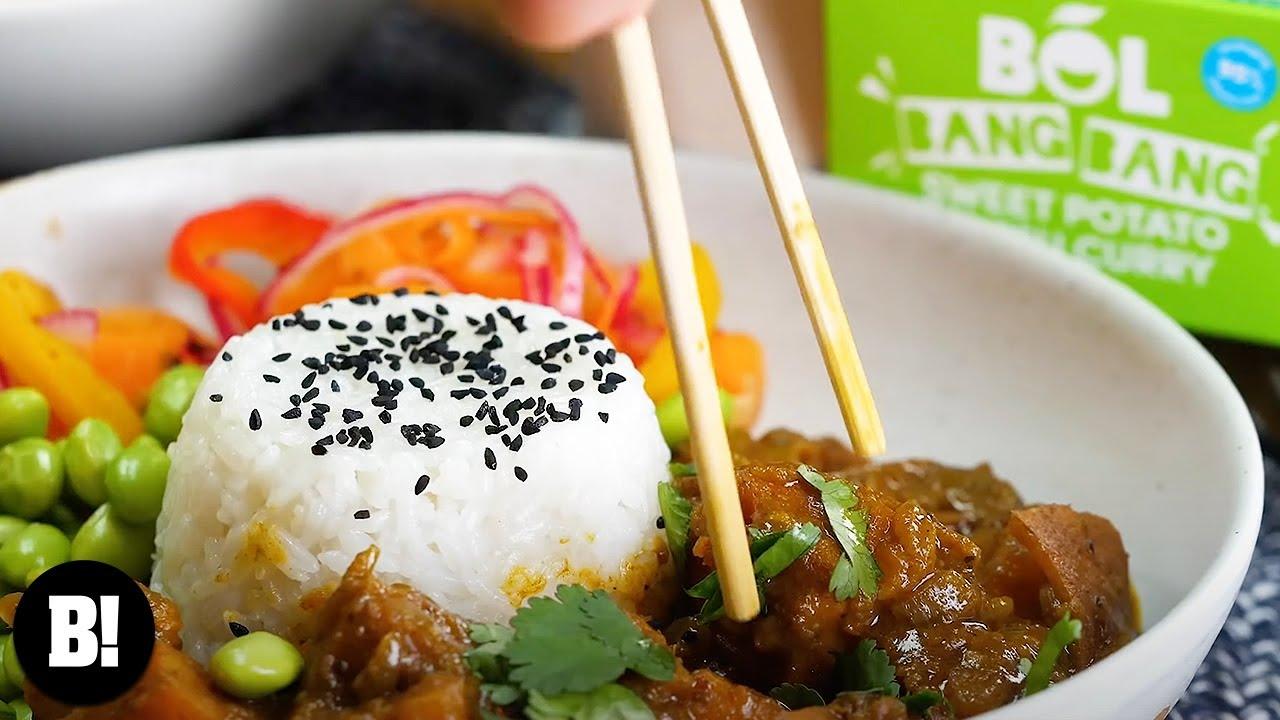 Sweet Potato Katsu Curry With Bol