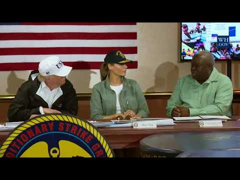 President Trump and The First Lady Meet with Governor Kenneth Mapp of the US Virgin Islands