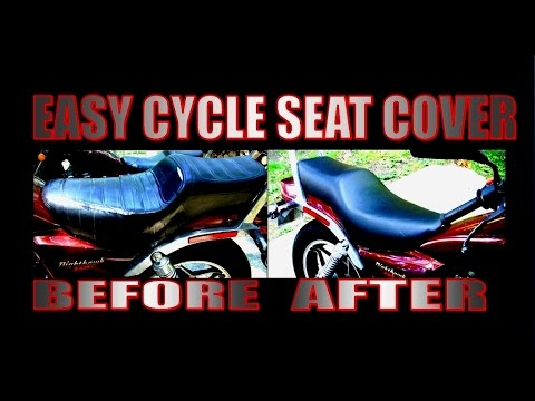 Easy Motorcycle Seat Cover YouTube - Stretch vinyl for motorcycle seat