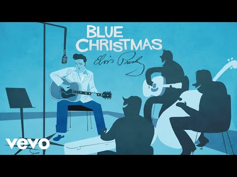 Elvis Presley – Blue Christmas (Official Animated Video)