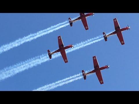 Amazing Aerobatic Air Show On Yom Haatzmaut At Ramat David Air Force Base Israel