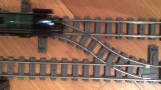 LEGO Emerald Night and 7938 Passenger train head on collision crash